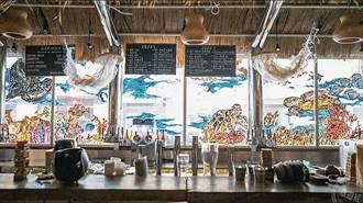 西門町海島酒吧 海岸垃圾化身酒吧藝術品
