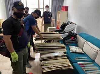 海巡破獲史上最大宗販售保育類製品 起出170支鯊魚劍