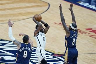 NBA》杜蘭特與哈登缺陣 厄文32分率籃網逆斬鵜鶘