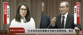日本含氚廢水應對措施不足,高金素梅:民眾如今不敢吃豬吃魚