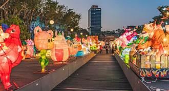 新竹市光臨藝術節 近300組競賽花燈孔廟廣場現身