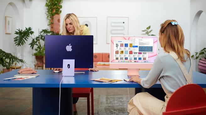 蘋果發表會》iMac搭M1晶片 輕薄7色機身復古又時尚