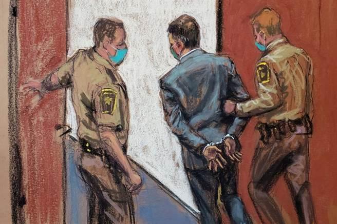 美國前警官蕭文以膝蓋壓住非裔男子佛洛伊德頸部致死,陪審團今天裁決蕭文的全部謀殺和過失殺人罪名成立,佛洛伊德的律師克魯普稱許這項裁決是民權的劃時代勝利。(圖/路透社)