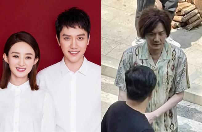 馮紹峰上月被拍整個人爆瘦。(圖/翻攝自馮紹峰、一點娛樂微博)