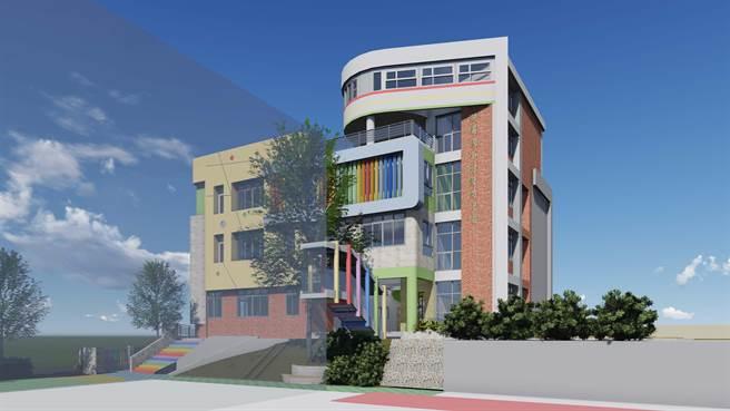 湖埔國小新建幼兒園教學大樓完工後示意圖之一。(縣府提供)