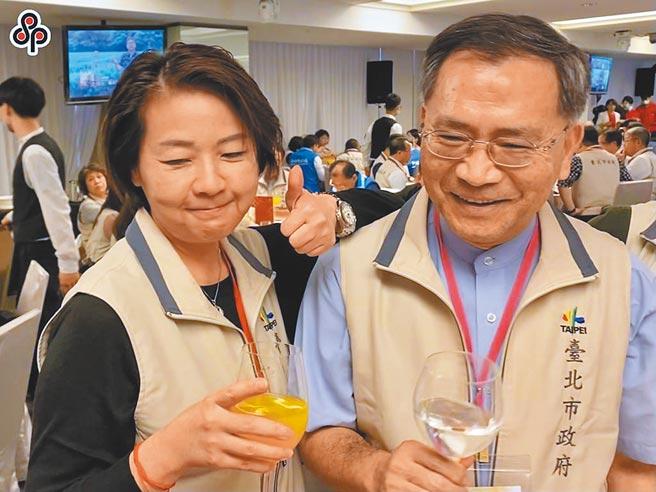 台北2位副市長黃珊珊(左)、蔡炳坤(右)不合傳聞不斷,不只搶行程爭曝光,還有跨局處督導爭議。(本報資料照片)