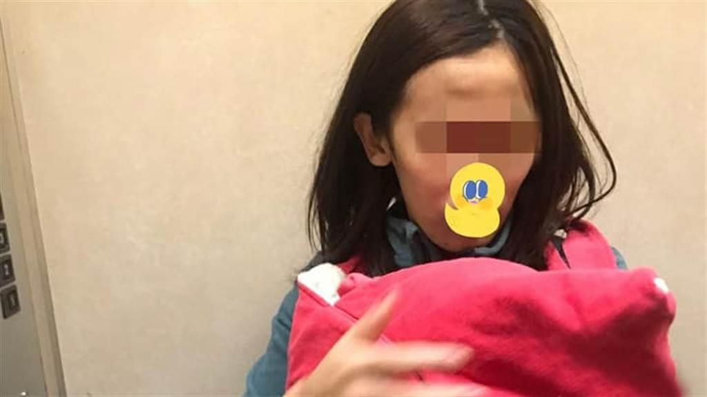一名24歲患有輕度智能障礙的女子,獨自扶養出生不到3個月的女嬰,每個月僅靠7千元補助、津貼維生,大部分的錢都給女兒買奶粉、尿布,自己三餐僅靠喝水止飢。(圖/翻攝自社團法人愛的延續公益協會臉書)