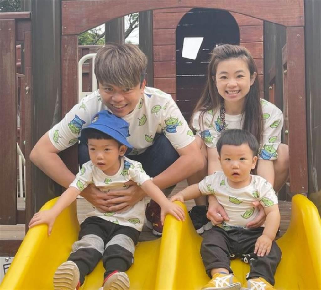 YouTuber蔡阿嘎經常透過影片分享家庭生活和親子互動。(圖/ 摘自蔡阿嘎IG)