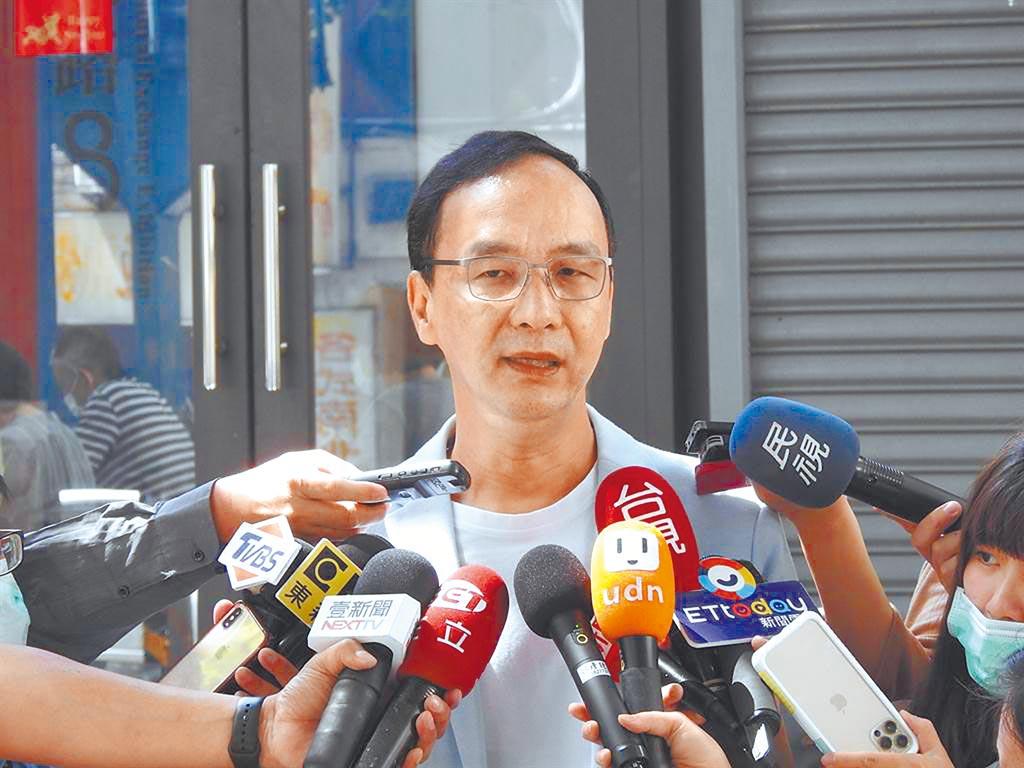 国民党前主席朱立伦表示,全球有7个国家将气候变迁入宪,台湾也须展现决心将此议题入宪,明订降低碳排放时程表。(本报资料照片)