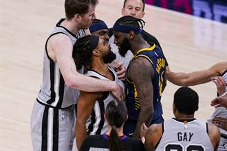 NBA》桑普生「頭槌」遭禁賽1場 馬刺兩球員罰款