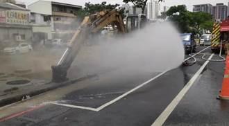 自來水公司檢修水管挖斷管線 永康鬧區瀰漫瓦斯