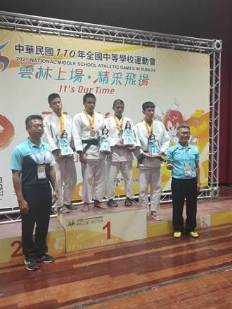 全中運台東縣代表隊奪13金12銀25銅 國男組柔道東體完成二連霸