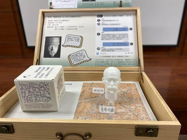 由成大歷史系與台南二中協力策畫的微型特展「台南選物開箱」。(曹婷婷攝)