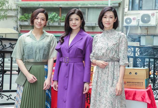 宋芸樺、陳妍希、周幼婷出席《人浮於愛》開鏡。(粘耿豪攝))