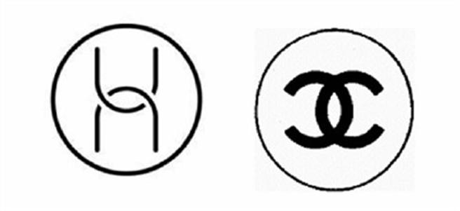 纏訟4年後,法國香奈兒在與中國華為的商標訴訟中落敗。左為中國華為公司申請注冊的商標,右為法國香奈兒系列產品著名商標,法庭認為兩個商標差異太大。(圖/網路)