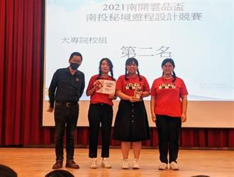 南開雲品盃南投秘境遊程設計競賽 龍華觀休系奪銀