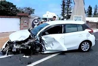 澎湖白沙2辆自小客车对撞 10台湾游客轻重伤送医