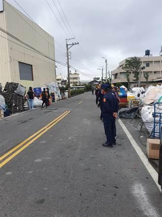 無照回收廠廢棄物佔路數月罰不怕 中市府施鐵腕斷水電