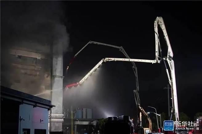 立訊精密旗下孫公司勝瑞電子發生大火釀8死。(圖/新華社)