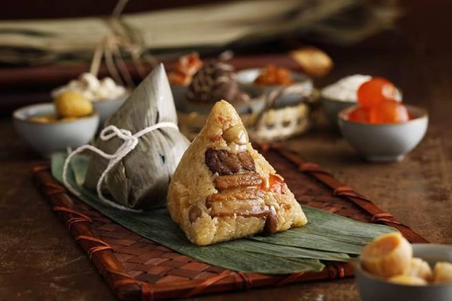 (台北君悅酒店推出多款粽禮搶端午商機,圖為「 寶島北部粽」。圖/台北君悅酒店提供)