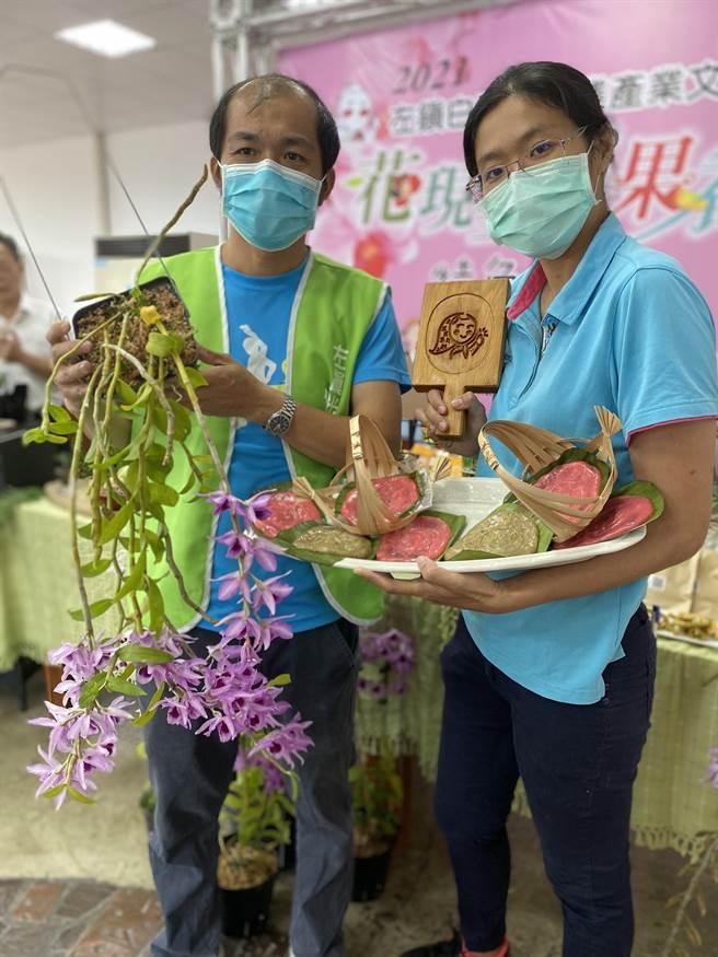 活動也推出蘭花創意盆栽DIY、拓印紅龜粿。(曹婷婷攝)