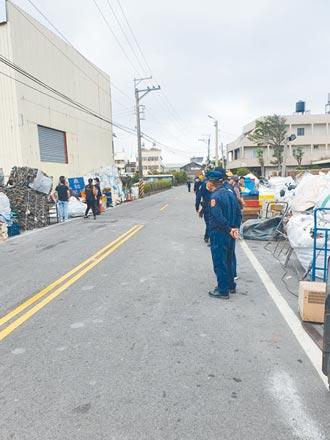 無照回收廠侵占道路 強制斷水斷電