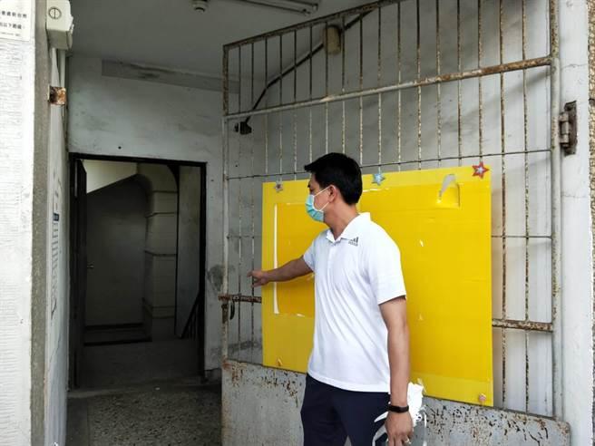 台中市柔道館再度將門上鎖。(陳淑娥攝)