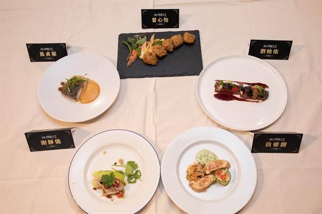 全聯料理之王線下準決賽以紅肉、白肉為食材,讓參賽者完成不同的創意料理。(全聯提供)
