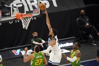 NBA》聯盟龍頭落難日 爵士爆冷主場輸灰狼