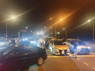 深夜近百車上演玩命關頭 大園警用口袋戰術全逮回