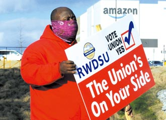 亞馬遜工人拒組工會