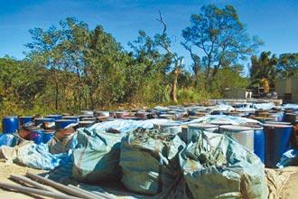 芎林停業農場遭埋廢液 清運完畢