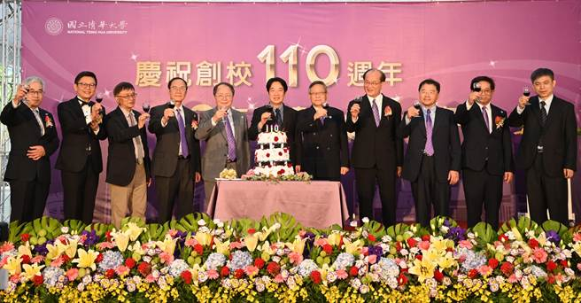 副總統賴清德(中)參加清華大學慶祝創校110周年活動。(清大提供/羅浚濱新竹傳真)