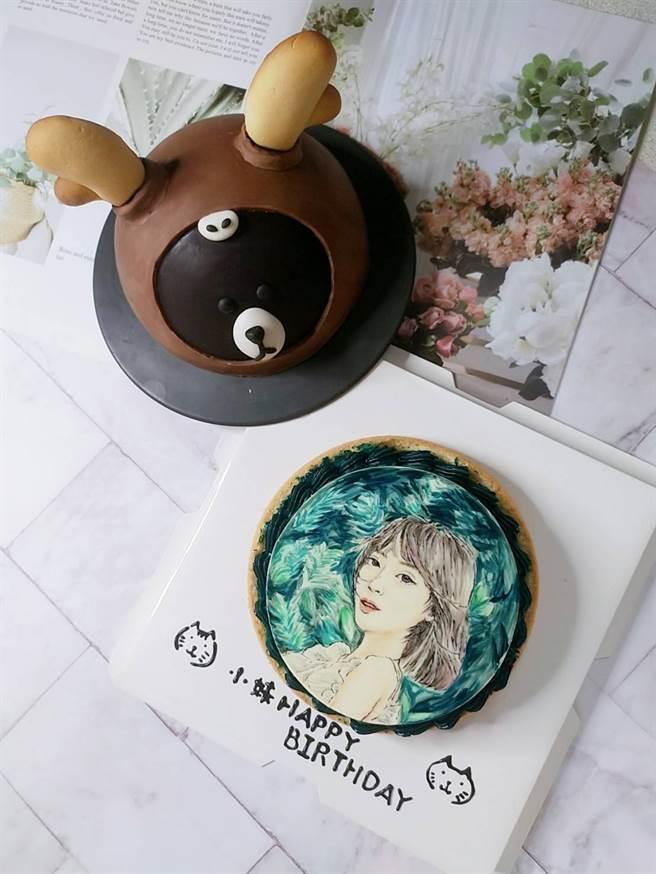 孟翔在黎晏孜生日時,送上一個有黎晏孜圖像的小熊蛋糕。(戴志揚提翻攝)