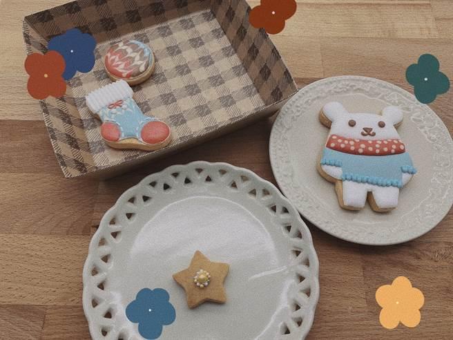 黎晏孜親手製作的小熊糖霜餅乾。(戴志揚翻攝)