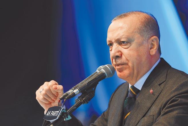 圖為土耳其總統艾爾多安。(美聯社)