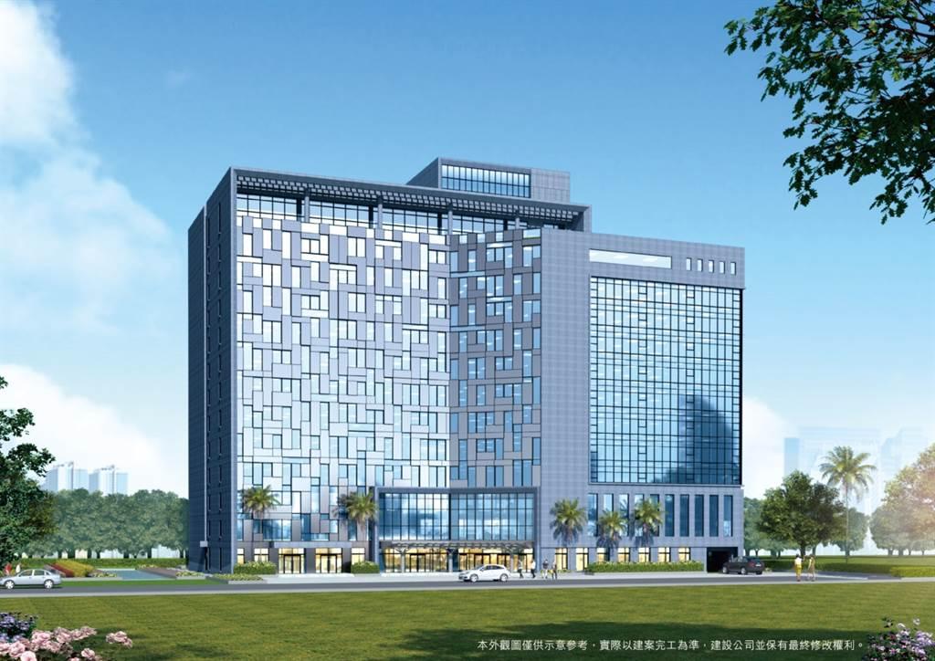 「憶聲智匯科技園區」完工後將是工業區中最高、最具國際門面的的地標建築。(業者提供)