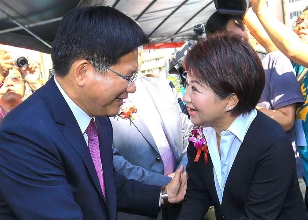 前交通部長林佳龍(左),台中市長盧秀燕(右)。(圖/本報資料照,盧金足攝)