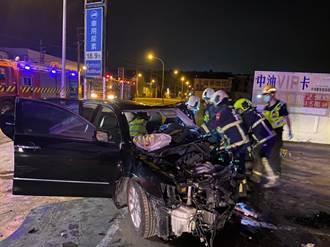 男駕車自撞加油站身亡 女飛出車外求別報警原因曝光