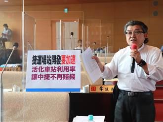 議員李中批台中捷運聯開態度散漫 恐讓市長施政成績受到衝擊