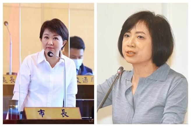 台中市長盧秀燕(左)和民進黨立委何欣純(右)。(圖為中時資料照)