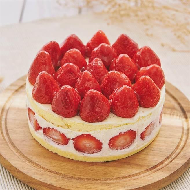 圖三:Pinkoi 艾波索法式甜點,草莓華爾滋蛋糕,6吋980元。(Pinkoi提供)
