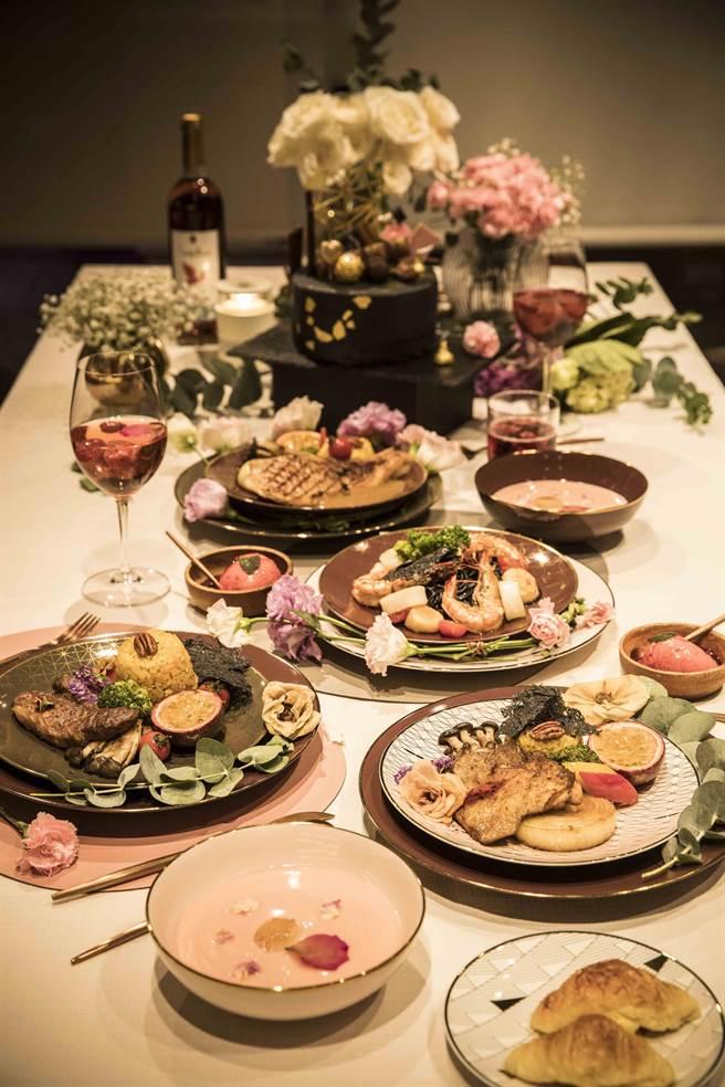 圖六:HOLA母親節私廚服務即日起開放預約,有4人、6人、8人可選,價格在8800-1萬7600元之間。(HOLA提供)