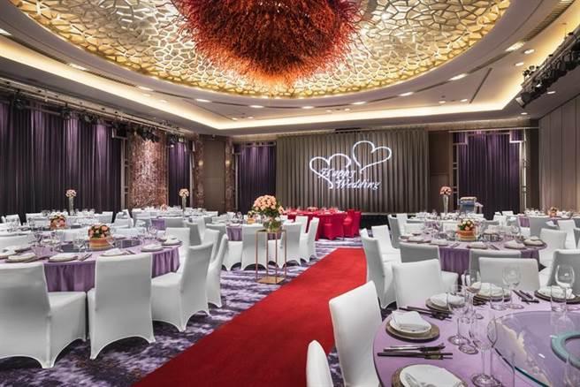 (台北喜來登飯店推出「喜來約定」2021婚宴專案,釋出61個周末好日以優惠價起桌。圖/台北喜來登飯店)