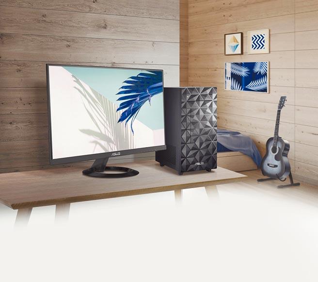 華碩的ASUS S300MA桌上型電腦,定價2萬7990元起。(華碩提供)