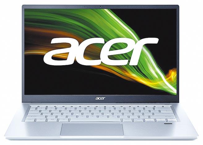 宏碁全新的Acer Swift 3(SF314-511)定價3萬4900元,5月初正式開賣。(宏碁提供)