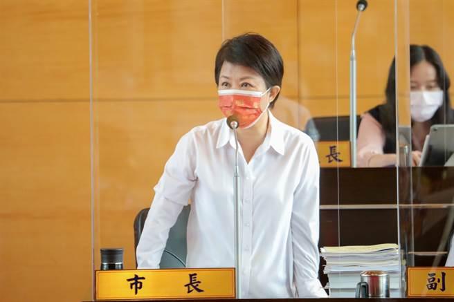 台中市長盧秀燕今天在議會表示,會持續稽查萊豬,守護台中市民健康。  台中市政府提供