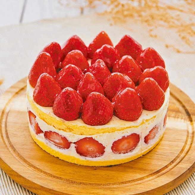 Pinkoi艾波索法式甜點,草莓華爾滋蛋糕,6吋980元。(Pinkoi提供)