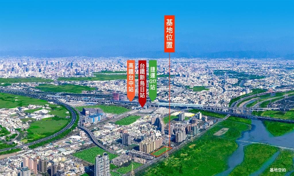 惠宇建設看好高鐵特區發展,新案同時擁有交通便利、公園綠地的舒適生活圈。(圖/業者提供)