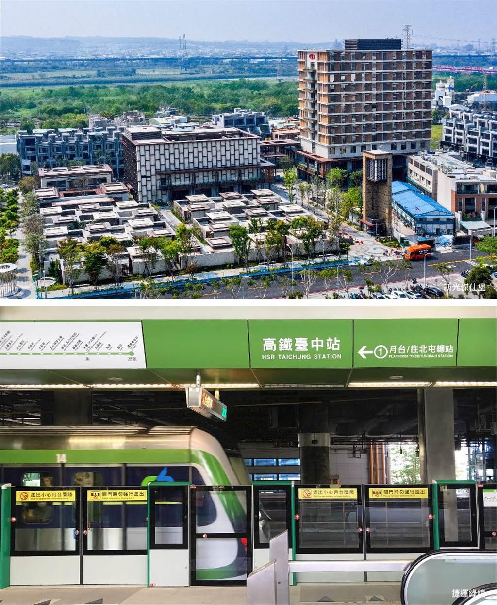 台中高鐵站為中部唯一三鐵共構站,是中台灣最重要的交通核心。(圖/業者提供)